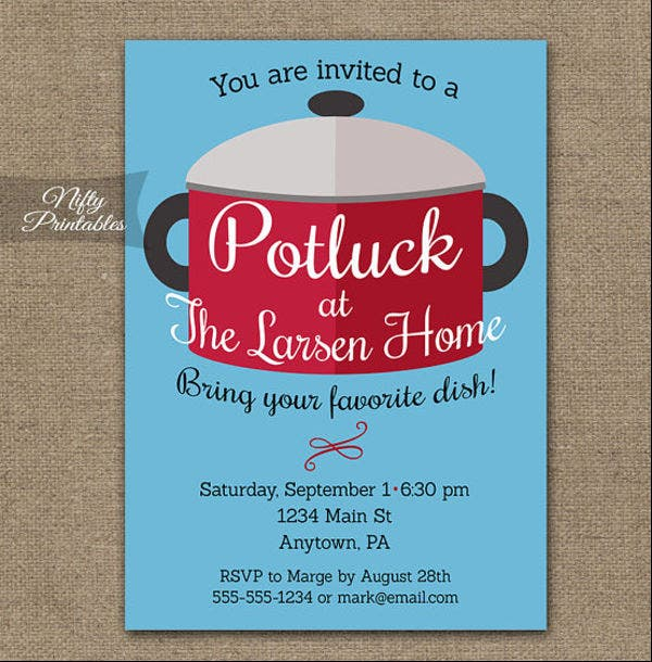 Potluck Email Invitation Template  Design Templates  Free