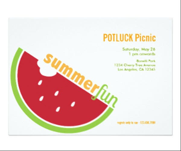 Free Potluck Email Invitation Template