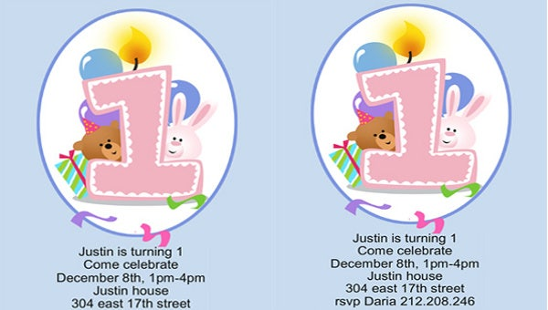 free pintable baby birthday invitation