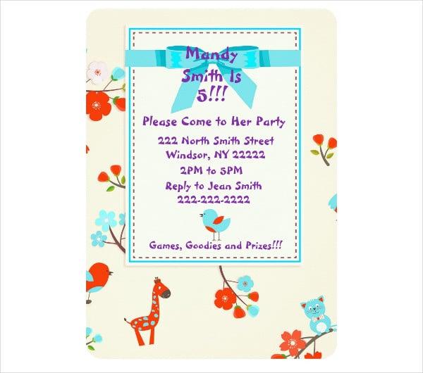cute baby birthday invitation