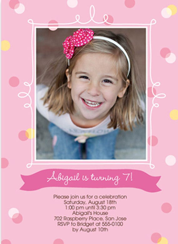 Baby Girl Birthday Invitation