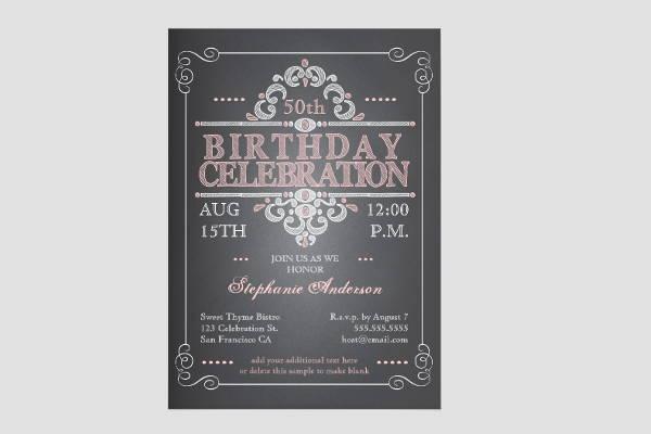 9 chalkboard birthday invitations jpg vector eps ai illustrator vintage chalkboard birthday invitation filmwisefo