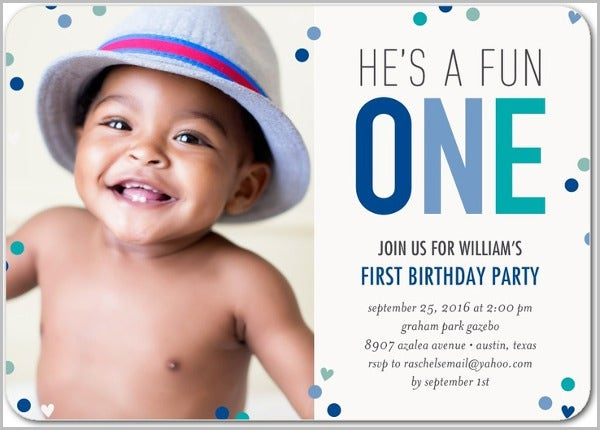 7 Baby Birthday Invitations JPG Vector EPS Ai Illustrator