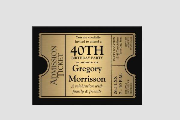 9 chalkboard birthday invitations jpg vector eps ai illustrator ticket style chalkboard birthday invitation filmwisefo Choice Image