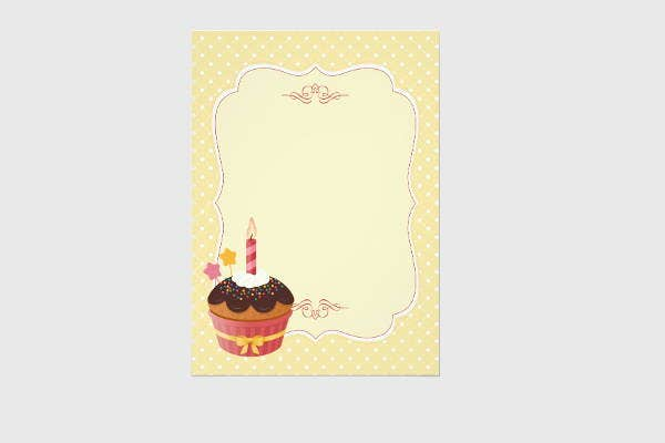 5 Blank Birthday Invitations Jpg Vector Eps Ai