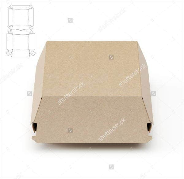 cardboard burger box template