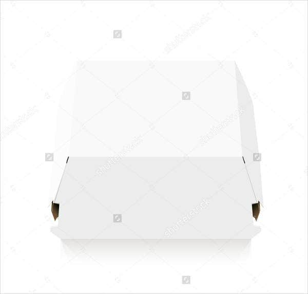 blank burger box template