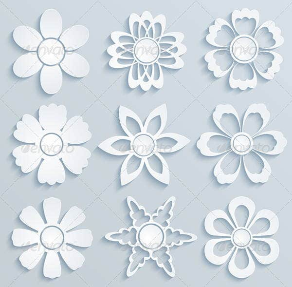 5 daisy flower templates free psd vector ai eps for Free printable paper flower templates