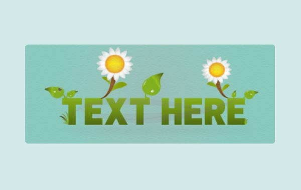 daisy-flower-text-template