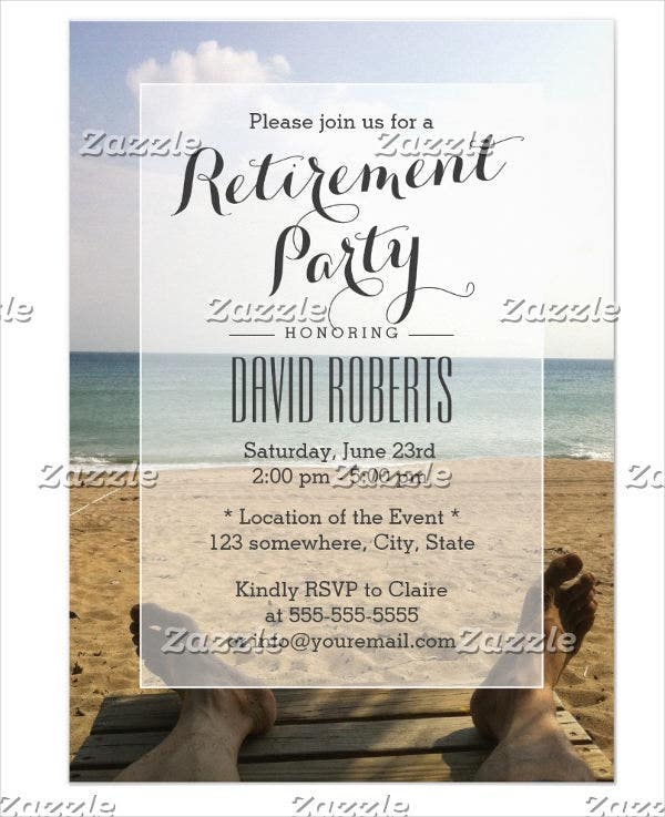 retirement farewell party invitation