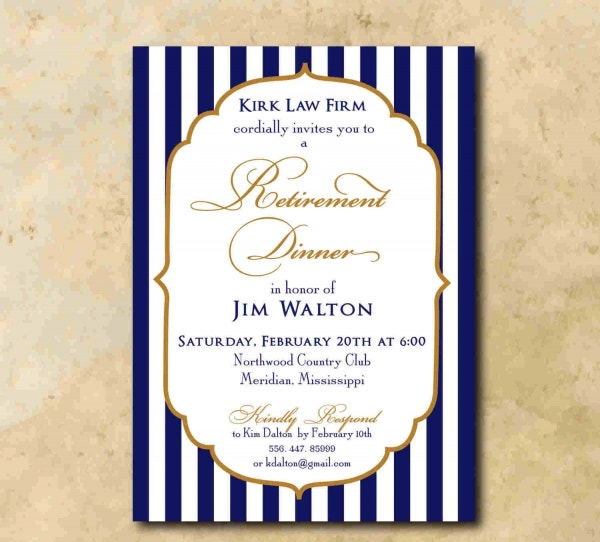 7 retirement farewell invitations jpg vector eps ai for Retirement invitation template free