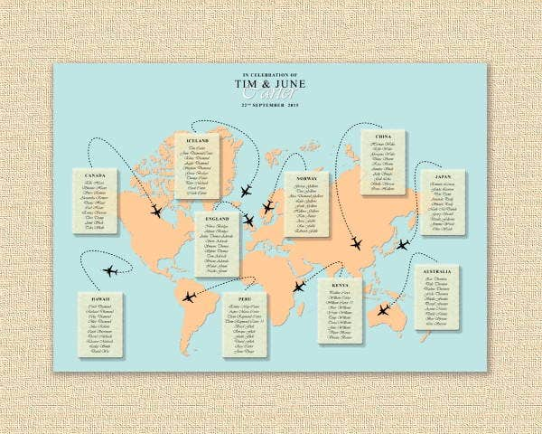 wedding plan map template