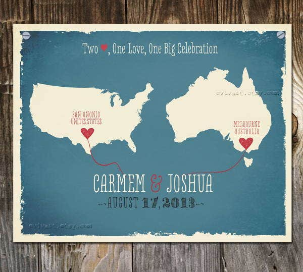 wedding signature map template
