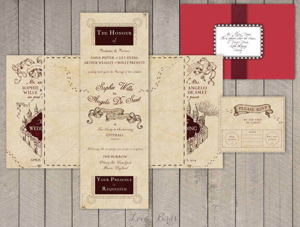 wedding map direction template