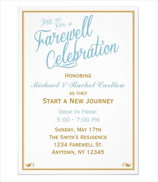 6+ Farewell Dinner Invitations - Jpg, Vector Eps, Ai Illustrator