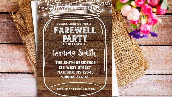 6  farewell dinner invitations