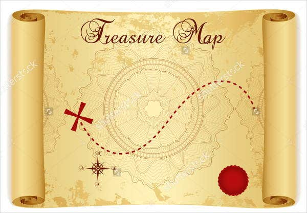 treasure-map-scroll-template