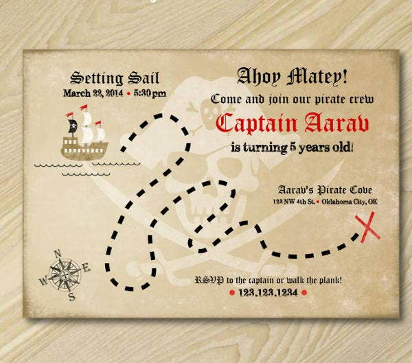 treasure-map-invitation-template