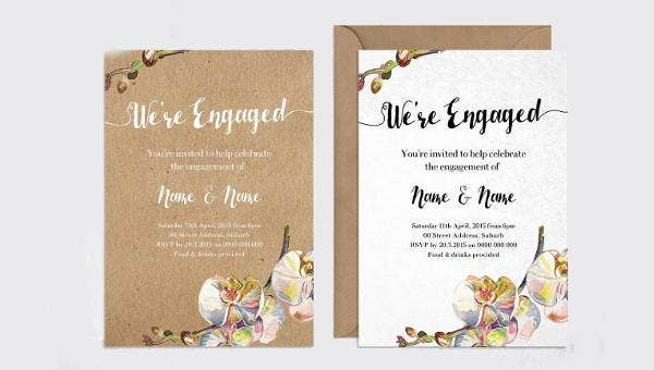 14 Rustic Engagement Invitations Jpg Eps Ai Psd Word