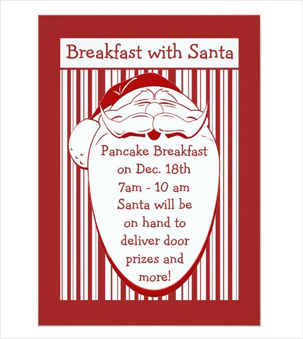 christmas breakfast party invitation