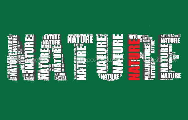 nature typography 3d vector
