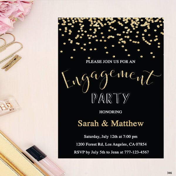 confetti-engagement-dinner-invitation