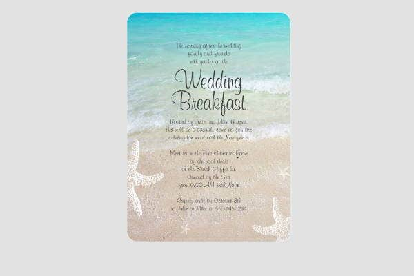 Beach Wedding Breakfast Invitation 5 wedding breakfast invitations jpg, vector eps, ai illustrator,Wedding Breakfast Invitations