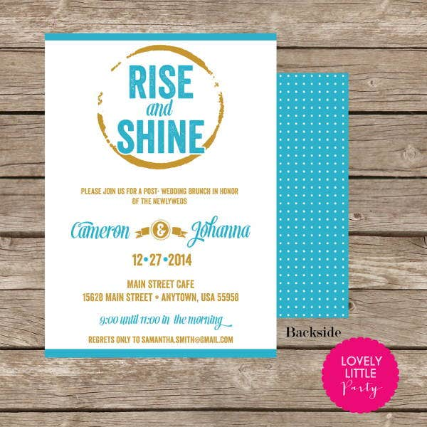 Modern Wedding Breakfast Invitation 5 wedding breakfast invitations jpg, vector eps, ai illustrator,Wedding Breakfast Invitations