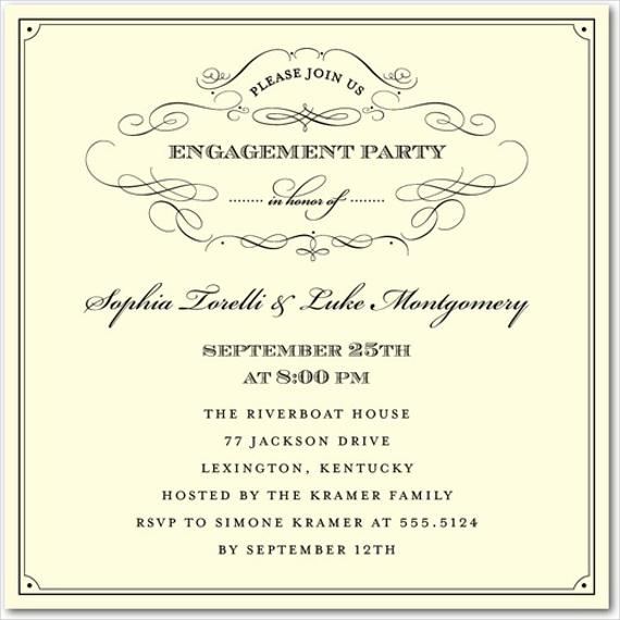 6 Engagement Ceremony Invitations JPG Vector EPS Ai Illustrator