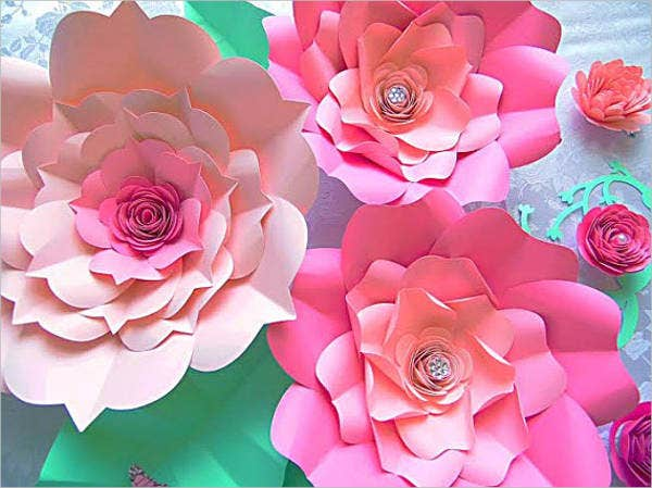 8 giant flower templates psd vector eps free for Big flower paper template