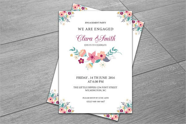 9 surprise engagement party invitations jpg vector eps ai illustrator download free
