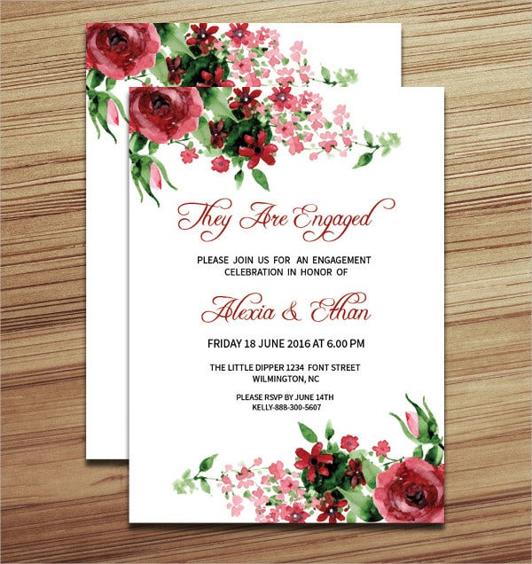 Diy Surprise Engagement Party Invitation