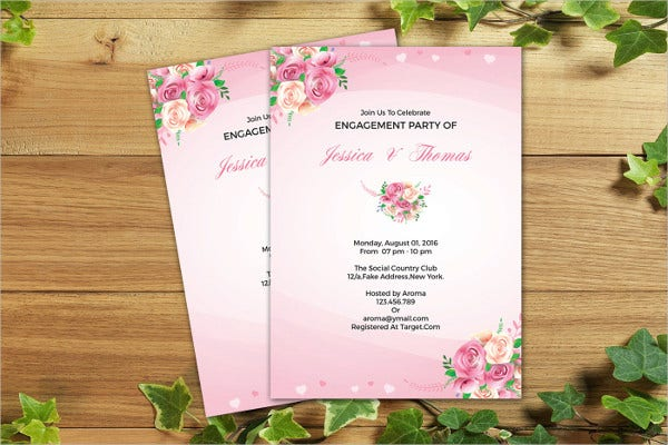 Free Printable Surprise Engagement Party Invitation
