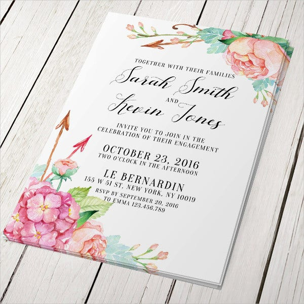 Personalized Surprise Engagement Party Invitation