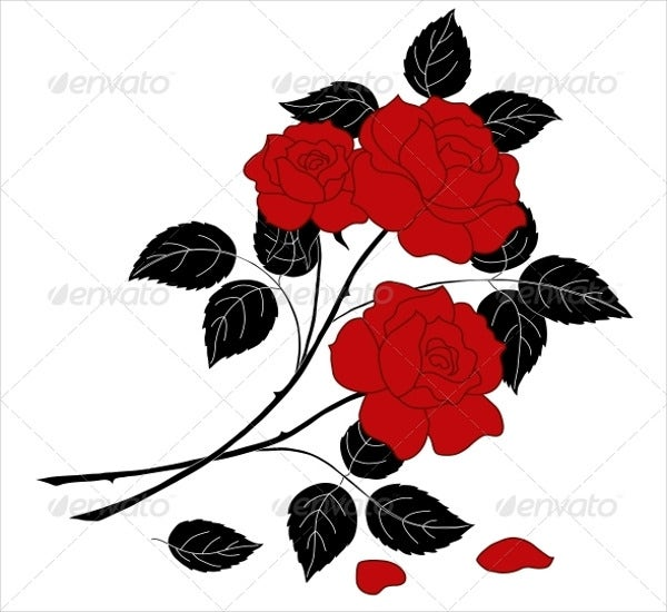 flower-with-stem-and-leaves-template