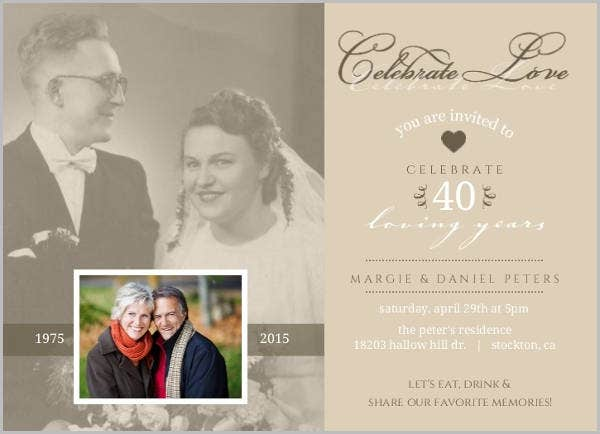 vintage-wedding-anniversary-program-template