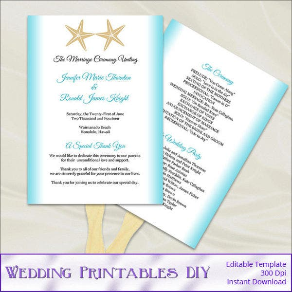 diy-beach-wedding-program-template