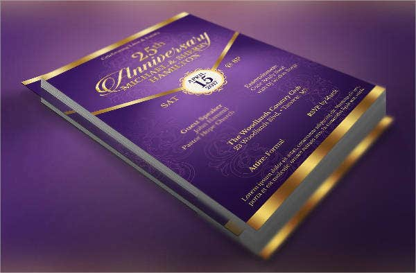 7  wedding anniversary program templates