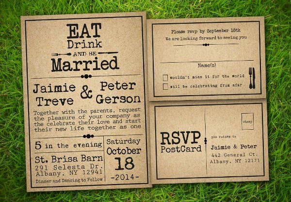 Vintage Garden Wedding Program Template