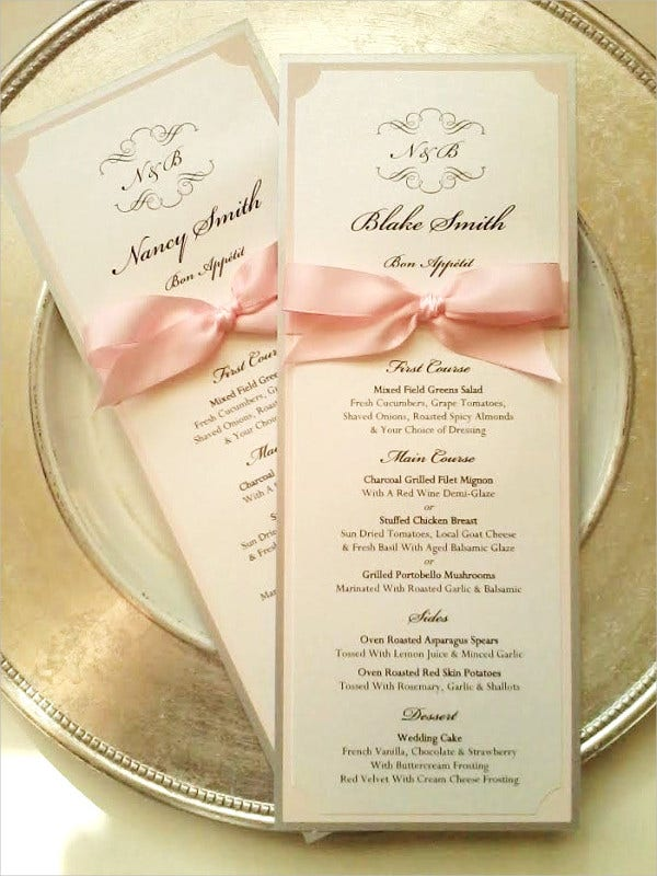 Simple Wedding Reception Program Template