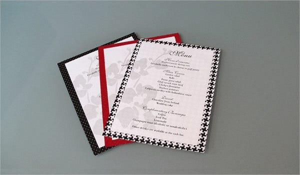 Free Printable Wedding Reception Program Template