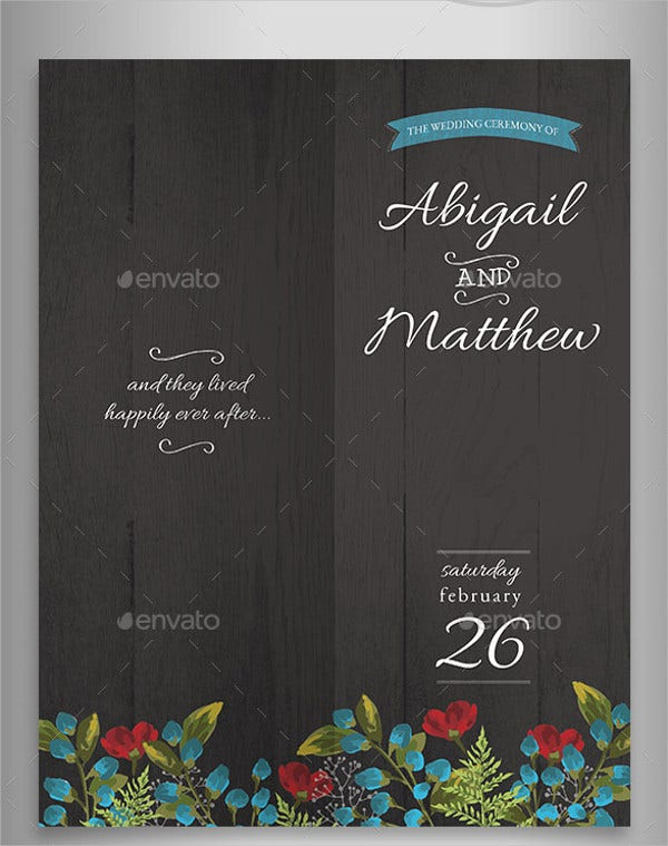 wedding schedule reception program template