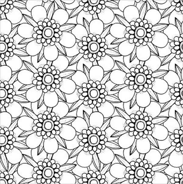 blank flower outline template