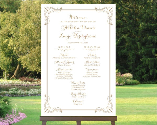wedding reception budget program template