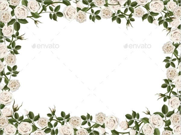 Blank Flower Border Template
