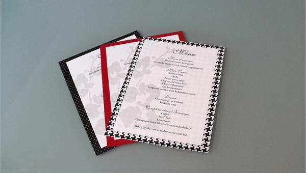 7  wedding reception program templates
