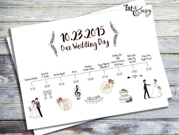 Wedding Event Program Timeline Template