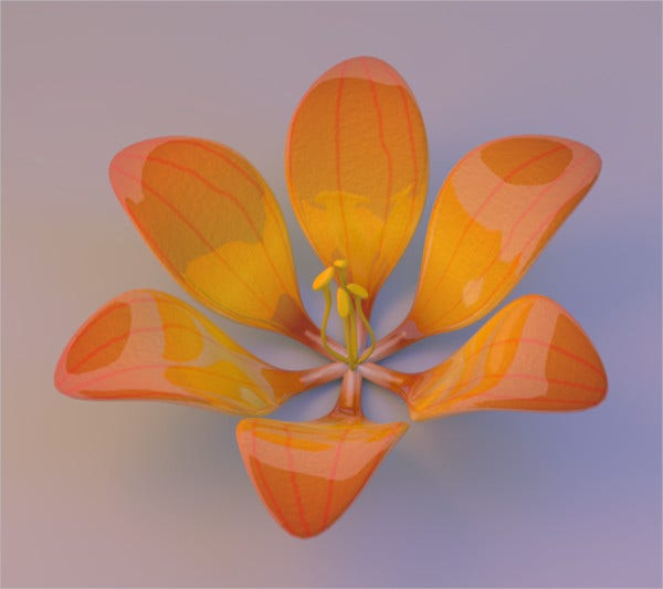Free Printable 3D Flower Template