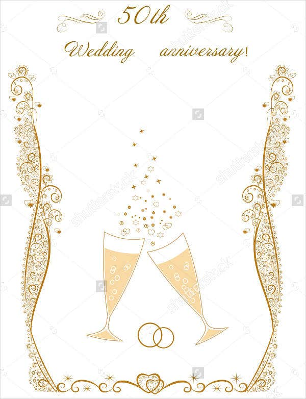 Blank Wedding Anniversary Event Program Template  Blank Program Template