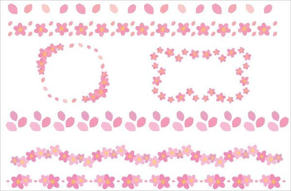 sakura-flower-border-template